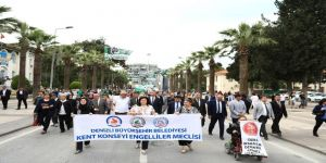 Denizli'de Engelliler Haftası 'Farkındalık' Yürüyüşü