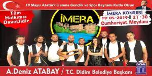 19 Mayıs coşkusu Grup İmera ile yaşanacak