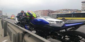 E-5 Feci Motosiklet Kazası Kamerada:1 Ölü