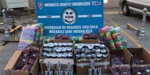 Kocaeli'de 154 kilo kaçak nargile tütünü yakalandı
