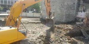 Mumhane'de Kentsel Dönüşüm Kapsamındaki Kazı Çalışmaları Durduruldu
