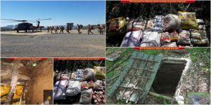 Teröristlere ait 43 kış sığınağı imha edildi