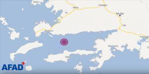 Bodrum'da 4 büyüklüğünde deprem