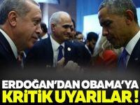 Erdoğan'dan Obama'ya Kritik Uyarılar
