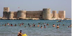 Mersin sahillerinde tatil yoğunluğu
