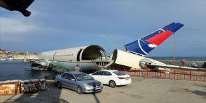 Saros Körfezi'nde batırılacak dev uçağın gövde montajı tamamlandı