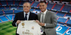 Real Madrid, Hazard'ı tanıttı