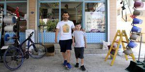 Baba ile oğlunun 'hayat koşusu' devam ediyor