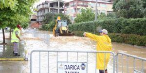 Darıca'da evleri su bastı