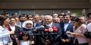 Binali Yıldırım: İstanbul halkının verdiği kararın başımız gözümüz üzerinde yeri var