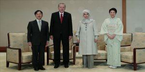 Erdoğan, Japon İmparatoru Naruhito ile görüştü