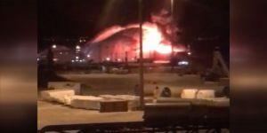 Gemi yangını: 1 ölü
