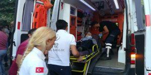 tekerlekli sandalyeli yaşlı adam yaralandı