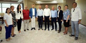 Büyükakın, CHP yönetimini ağırladı