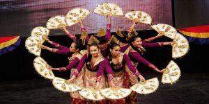 Uluslararası Altın Karagöz Halk Dansları Yarışması'nda renkli görüntüler