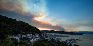 Orman yangınına havadan müdahale