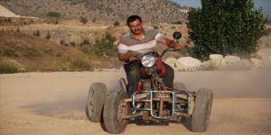Baba yadigarı motosikletle hayalleri gerçeğe döndü