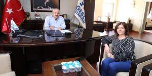 Serap Çakır, Büyükgöz'ü ziyaret etti