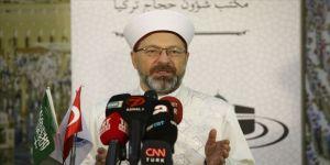 Erbaş, Mekke'de kafile başkanlarıyla buluştu