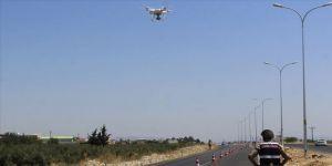 Jandarmadan 'drone' ile trafik denetimi