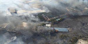 Gebze'de mesire alanında yangın