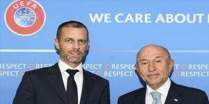 Nihat Özdemir, UEFA Başkanı ile bir araya geldi