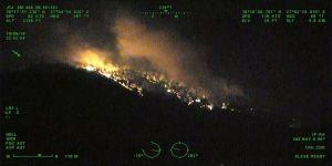 İzmir'deki orman yangınına müdahaleye 'gece uçuşu' desteği