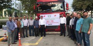 Kocaeli'den Suriye'ye yardım tırı yola çıktı