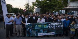 Hindistan yönetimi Ankara'daki büyükelçiliği önünde protesto edildi