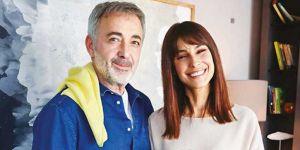Mehmet Aslantuğ ve Arzum Onan çiftinden aşk pozu
