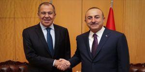 Çavuşoğlu ile Lavrov Suriye'yi görüştü
