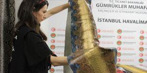 320 bin liralık yılan derisi ele geçirildi