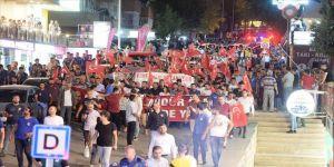 Mardin'de teröre tepki ve Diyarbakır annelerine destek yürüyüşü