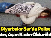 Diyarbakır Sur'da Polise Ateş Açan Kadın Öldürüldü