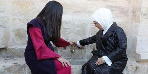 Emine Erdoğan Sırbistan'da restore edilen çeşmenin açılışını yaptı