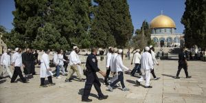 185 fanatik Yahudi Mescid-i Aksa'ya baskı düzenledi
