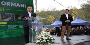 Kılıçdaroğlu, Kemerburgaz Kent Ormanı'nı halka açtı