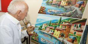 83 yaşında resim sergisi açtı