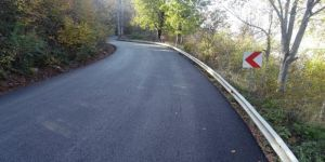 Zirveye giden alternatif yol asfaltlandı