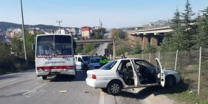 Gebze'de kaza ! Araç içindeki 4 kişi yaralandı!