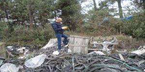 Gebze'de plastik ve kauçuk atığı tespit edildi