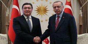 Cumhurbaşkanı Erdoğan, Kazakistan Başbakanı Mamin'i kabul etti