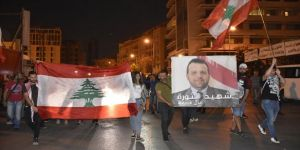 Hayatını kaybeden gösterici için Beyrut'ta sembolik cenaze merasimi