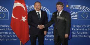 Çavuşoğlu, AP Başkanı Sassoli ile görüştü