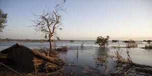 Mozambik'te bir şehir sular altında kaldı