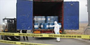 Gürbulak'ta 18,4 ton sodyum siyanür ele geçirildi