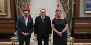 Cumhurbaşkanı Erdoğan AB heyetini kabul etti