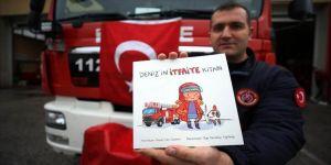 İtfaiye eri çocuklara yangın bilincini aşılamak için kitap yazdı