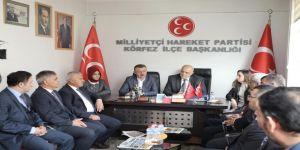 Büyükakın, (MHP) Körfez İlçe Başkanı Zeki Gürsu ve yönetimini ziyaret etti