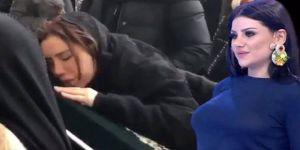 Ceylan,yeğenini gözyaşları içinde son yolculuğuna uğurladı